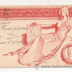 Postales: 1909. CONMEMORACIÓN DE LA FUNDACIÓN DE LA UNION POSTAL UNIVERSAL. INAUGURACIÓN DEL MONUMENTO. . Lote 23377394