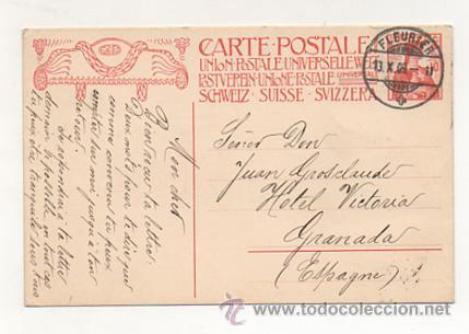 Postales: 1909. CONMEMORACIÓN DE LA FUNDACIÓN DE LA UNION POSTAL UNIVERSAL. INAUGURACIÓN DEL MONUMENTO. - Foto 2 - 23377394