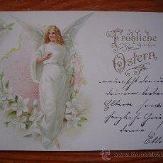 Postales: 1900 - DEUTSCHES REICH - FELÍZ PASCUA - TARJETA POSTAL CIRCULADA - (POSTKARTE). Lote 26701929