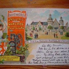 Postales: 1902 - DEUTSCHES REICH - EXPOSICIÓN INDUSTRIAL Y COMERCIAL - DUSSELDORF - CIRCULADA - (POSTKARTE). Lote 26766381