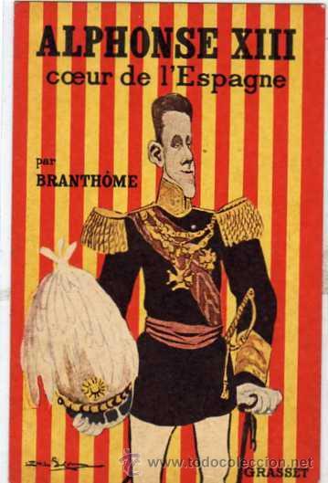 ALFONSO XIII REY DE ESPAÑA.MONARQUIA. CARICATURA. GRASSET. SIN CIRCULAR. (Postales - Postales Temáticas - Conmemorativas)