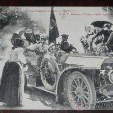 Postales - ANTIGUA POSTAL DE BODAS REALES N.6 - FIESTA AUTOMOVILISTA EN EL PARDO - S.M. DON ALFONSO XIII BEBIEN - 27774880