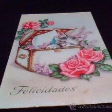 Postales: POSTAL DE FELICIDADES. ESCRITA EN GRADO ASTURIAS EN EL AÑO 1952.. Lote 27835776