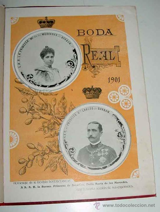 ANTIGUA PUBLICACION BODA REGIA DE SS. AA. RR. LOS PRINCIPES DE ASTURIAS D.M. DE LAS MERCEDES Y D. CA (Postales - Postales Temáticas - Conmemorativas)