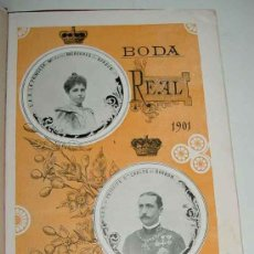 Postales: ANTIGUA PUBLICACION BODA REGIA DE SS. AA. RR. LOS PRINCIPES DE ASTURIAS D.M. DE LAS MERCEDES Y D. CA. Lote 27898757