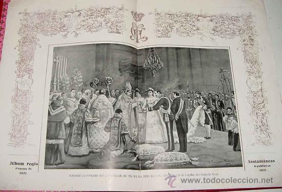 Postales: ANTIGUA PUBLICACION BODA REGIA DE SS. AA. RR. LOS PRINCIPES DE ASTURIAS D.M. DE LAS MERCEDES Y D. CA - Foto 7 - 27898757