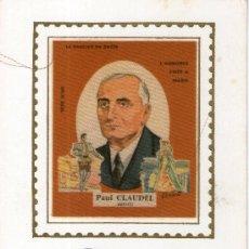 Postales: BUENA POSTAL FRANCESA, CONMEMORACION PAUL CLAUDEL - TELA - 6 DE JULIO 1968. Lote 28158448