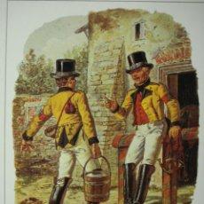 Postales: 5 CARTERO POSTILLIONE ESCENA DEL AÑO 1850 ALEMANIA GERMANY - MAS DE ESTE TIPO EN MI TIENDA. Lote 28738414