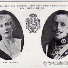 Postales: MONARQUIA. SOUVENIR DE LA VISITA DE LOS REYES DE ESPAÑA A BELGICA. VICTORIA EUGENIA. ALFOSNO XIII. Lote 29287588