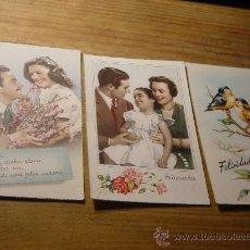 Postales: 3 TARJETAS POSTALES DE FELICITACION. AÑOS 50. DOS ESCRITAS.. Lote 29316455