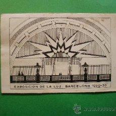Postales: EXPOSICIÓN DE LA LUZ - BARCELONA 1929 - 30. Lote 29371345