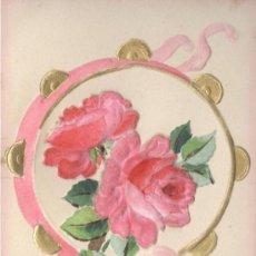 Postales: POSTAL ALEMANA DE FELICITACIÓN. SIN CIRCULAR, C. 1910. TROQUELADO, PASTA DE PAPEL. . Lote 29414130