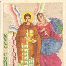 Postales: XXXV CONGRESO EUCARISTICO INTERNACIONAL - BARCELONA 1952. Lote 29707999