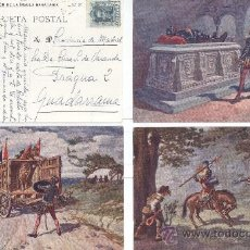 Postales: EL QUIJOTE EN POSTALES. 25 POSTALES COLOR, C. 1924. DIBUJOS DE PAHISSA. (COLECCIÓN COMPLETA). . Lote 16730550