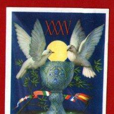 Postales: PRECIOSA TARJETA POSTAL - XXXV CONGRESO EUCARÍSTICO INTERNACIONAL BARCELONA 1952 - USADA Y ESCRITA. Lote 30392566