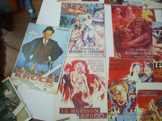 LOTE DE 5 POSTALES CINE CLASICO IMPRESAS EN FRACIA (Postales - Postales Temáticas - Conmemorativas)