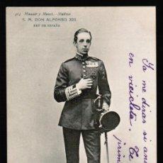 Postales: POSTAL S.M. DON ALFONSO XIII - HAUSER Y MENET . SERIE 414. Lote 30987579
