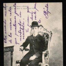 Postales: POSTAL S.M. EL REY D. ALFONSO XIII - HAUSER Y MENET . SERIE 586. Lote 31110699