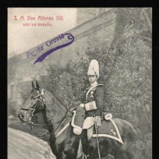 Postales: POSTAL S.M. DON ALFONSO XIII - REY DE ESPAÑA. Lote 31110789