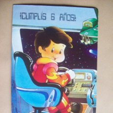 Postales: HAPPY BIRTHDAY - FELIZ CUMPLEAÑOS, JOYEUX ANNIVERSAIRE AMERICAN GREETINGS ARGENTINA 1989. Lote 32435207