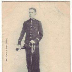 Postales: S. M. EL REY D. ALFONSO XIII. HAUSER Y MENET. REVERSO SIN DIVIDIR. CIRCULADA (ANTERIOR A 1905). Lote 32849497