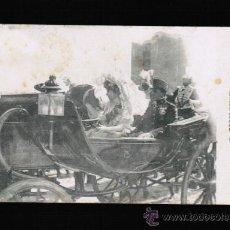 Postales: POSTAL BODAS REALES - CORRIDA REGIA, SALIDA DE SS.MM. DE LA PLAZA DE TOROS. Lote 33403826