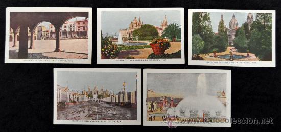 LOTE 5 POSTALES DE LA EXPOSICIÓN INTERNACIONAL DE BARCELONA, 1929. EXCELENTE ESTADO (Postales - Postales Temáticas - Conmemorativas)