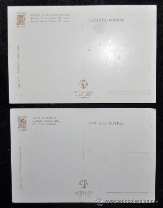 Postales: LOTE 5 POSTALES DE LA EXPOSICIÓN INTERNACIONAL DE BARCELONA, 1929. EXCELENTE ESTADO - Foto 3 - 34371331