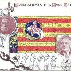 Postales: PS1102 POSTAL RECUERDO A EX PRESIDENTS DE LA UNIÓ CATALANISTA. ASSOCIACIÓ PROT. ENSENYANÇA CATALANA. Lote 34717885