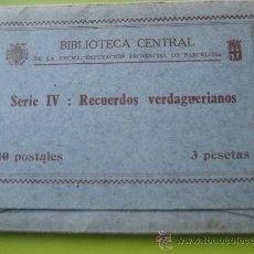 Postales: JACINTO VERDAGUER. RECUERDOS VERDAGUERIANOS. SERIE IV.DIPUTACION PROVINCIAL DE BARCELONA.12 POSTALES. Lote 36289463