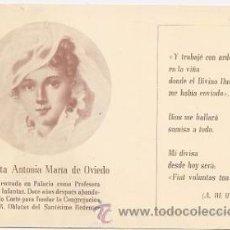 Postales: POSTAL ANTIGUA DE ANTONIA MARÍA DE OVIEDO, PROFESORA DE LAS INFANTAS. Lote 36806823