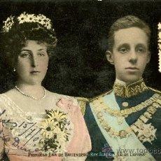 Postales - Princesa Ena de Battenberg y el rey Alfonso XIII - 38311017