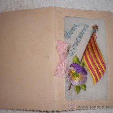 Postales: ANTIGUA POSTAL BORDADA DE VISCA CATALUNYA. Lote 38317364