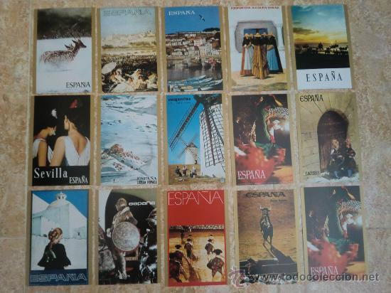 PAQUETE DE 15 POSTALES DE ESPAÑA DE TELEVISION ESPAÑOLA TVE (1971) ¡NUEVAS! (Postales - Postales Temáticas - Conmemorativas)