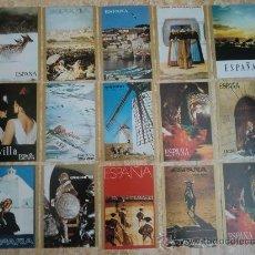 Postales: PAQUETE DE 15 POSTALES DE ESPAÑA DE TELEVISION ESPAÑOLA TVE (1971) ¡NUEVAS!. Lote 38979735