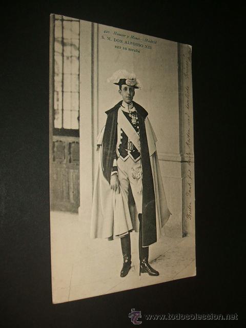 S.M. DON ALFONSP XIII REY DE ESPAÑA 1905 HAUSER Y MENET (Postales - Postales Temáticas - Conmemorativas)