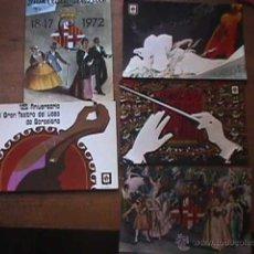 Postales: CINCO POSTALES DEL 125 ANIVERSARIO DEL LICEO, ESCUDO DE ORO, 1972. Lote 39556080