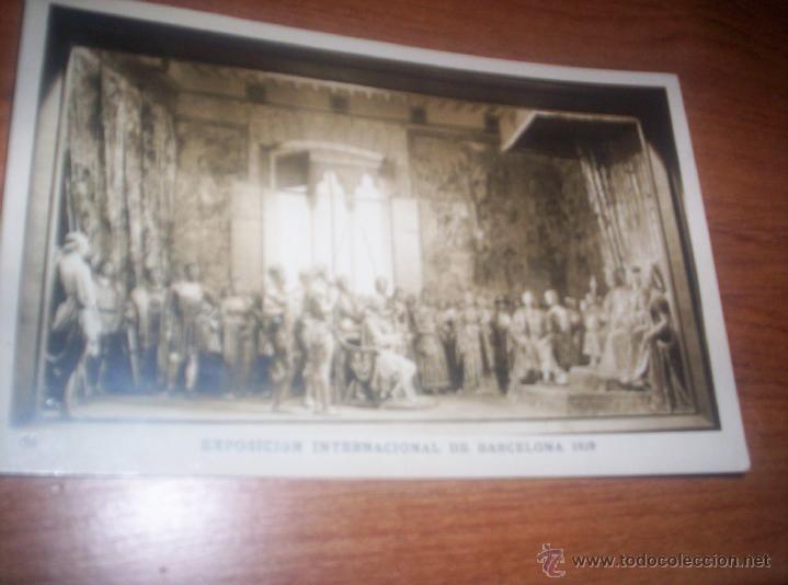 EXPOSICION INTERNACIONAL DE BARCELONA - 1929 - REYES CATOLICOS RECIBIENDO A COLON (Postales - Postales Temáticas - Conmemorativas)