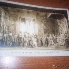 Postales - EXPOSICION INTERNACIONAL DE BARCELONA - 1929 - REYES CATOLICOS RECIBIENDO A COLON - 40254576