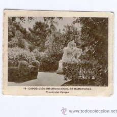 Postales: MINI POSTALITA - EXPOSICION INTERNACIONAL DE BARCELONA - RINCON DEL PARQUE. Lote 40289989