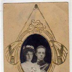 Postales: ALFONSO XIII Y VICTORIA EUGENIA DE BATTENBERG. POSTAL CONMEMORATIVA BODA REAL. CIRCULADA. Lote 40372821