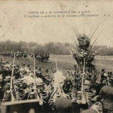 Postales: POSTAL VISITA DE ALFONSO XIII A PARIS EN 1905. Lote 40413440