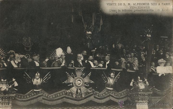 POSTAL VISITA DE ALFONSO XIII A PARIS EN 1905 (Postales - Postales Temáticas - Conmemorativas)