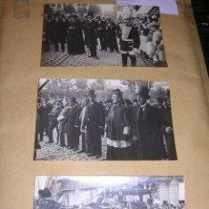Postales: BARCELONA - 4 POSTALES FOTOGRAFICAS ENTIERRO PRAT DE LA RIBA , MOSSOS D'ESCUADRA . 14X9 CM.. Lote 40912225
