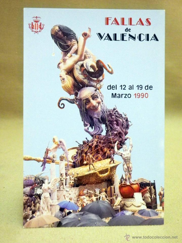 POSTAL CONMEMORATIVA, FOTOPOSTAL, FALLAS, 1990, FALLA ANTIGA DE CAMPANAR (Postales - Postales Temáticas - Conmemorativas)