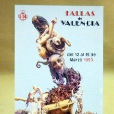 Postales: POSTAL CONMEMORATIVA, FOTOPOSTAL, FALLAS, 1990, FALLA ANTIGA DE CAMPANAR. Lote 41019296