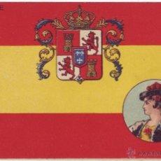Postales: BANDERA Y ESCUDO DE ESPAÑA. MAGASIN GÉNÉRAL. SIN DIVIDIR. NO CIRCULADA (ANTERIOR 1905). Lote 41619987