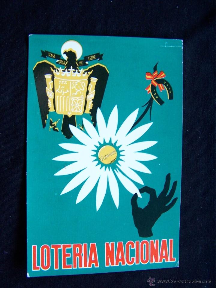 POSTAL CIRCULADA 1967 DIRECCIÓN GENERAL DE TRIBUTOS NACIONALES SERIEA Nº4 LOTERIA NACIONAL (Postales - Postales Temáticas - Conmemorativas)