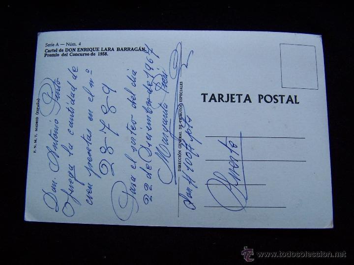 Postales: Postal circulada 1967 Dirección General de Tributos Nacionales SerieA nº4 Loteria Nacional - Foto 2 - 41696714