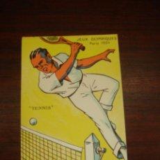 "Postales: RARA Y ANTIGUA TARJETA POSTAL EN COLOR JEUX OLYMPIQUES. PARIS 1924. ""TENNIS"". Lote 41797174"
